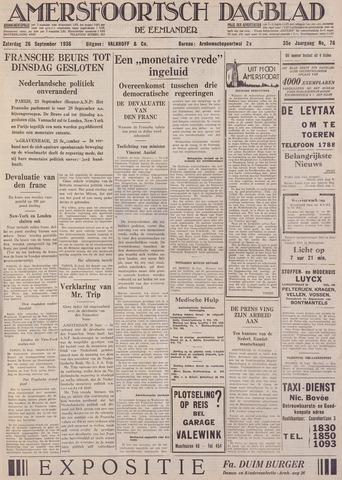 Amersfoortsch Dagblad / De Eemlander 1936-09-26
