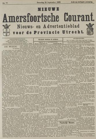 Nieuwe Amersfoortsche Courant 1909-09-25