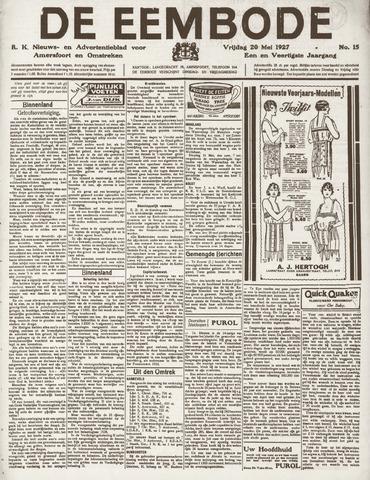 De Eembode 1927-05-20