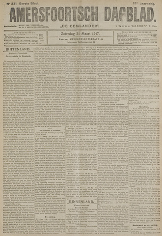 Amersfoortsch Dagblad / De Eemlander 1917-03-31