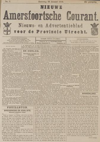 Nieuwe Amersfoortsche Courant 1916-01-22