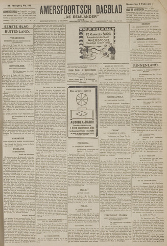 Amersfoortsch Dagblad / De Eemlander 1927-02-09