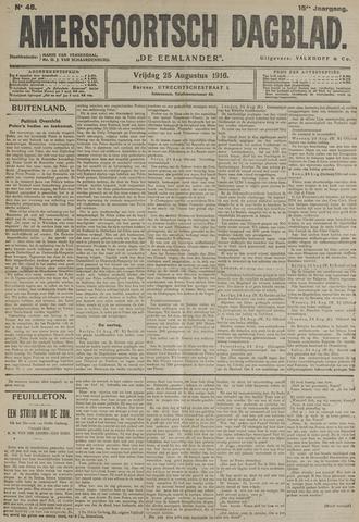 Amersfoortsch Dagblad / De Eemlander 1916-08-25