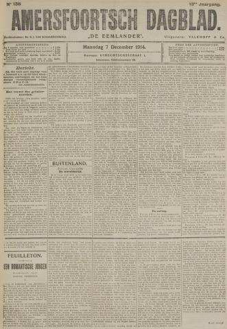 Amersfoortsch Dagblad / De Eemlander 1914-12-07