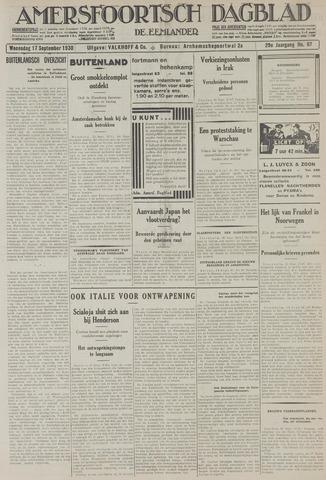Amersfoortsch Dagblad / De Eemlander 1930-09-17