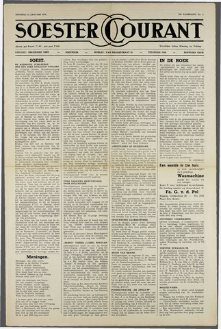 Soester Courant 1954-01-12