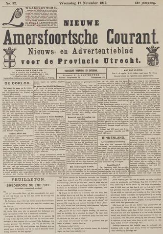 Nieuwe Amersfoortsche Courant 1915-11-17