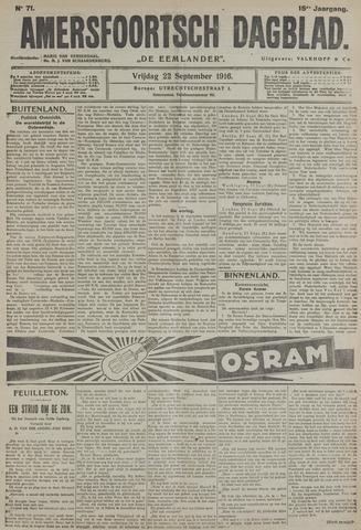 Amersfoortsch Dagblad / De Eemlander 1916-09-22