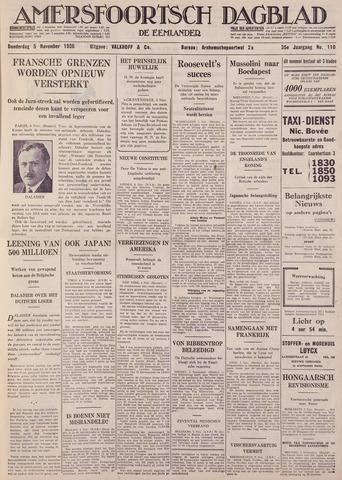 Amersfoortsch Dagblad / De Eemlander 1936-11-05