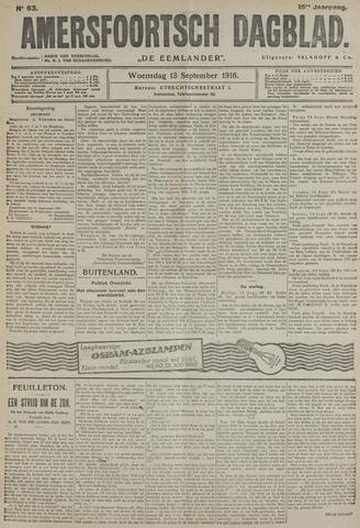 Amersfoortsch Dagblad / De Eemlander 1916-09-13