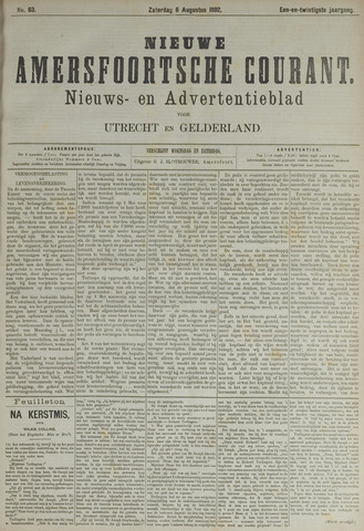 Nieuwe Amersfoortsche Courant 1892-08-06