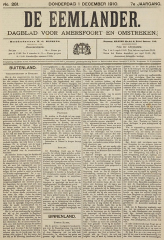 De Eemlander 1910-12-01
