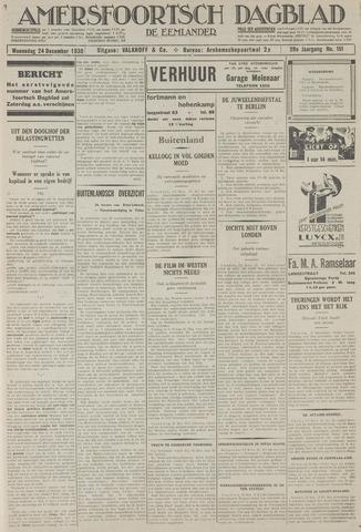 Amersfoortsch Dagblad / De Eemlander 1930-12-24