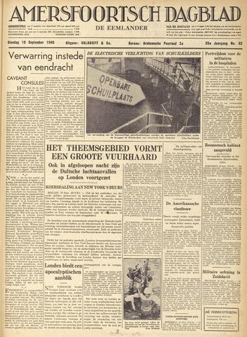 Amersfoortsch Dagblad / De Eemlander 1940-09-10