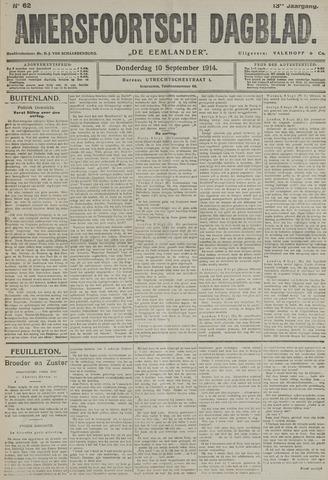 Amersfoortsch Dagblad / De Eemlander 1914-09-10