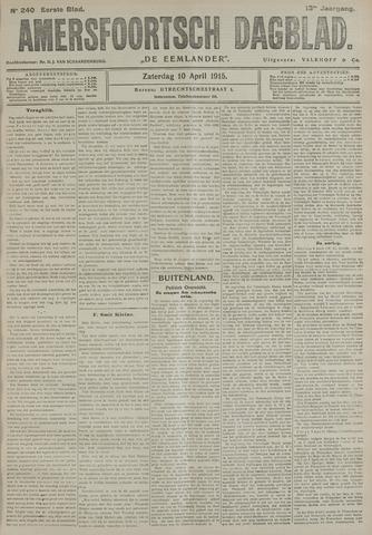 Amersfoortsch Dagblad / De Eemlander 1915-04-10