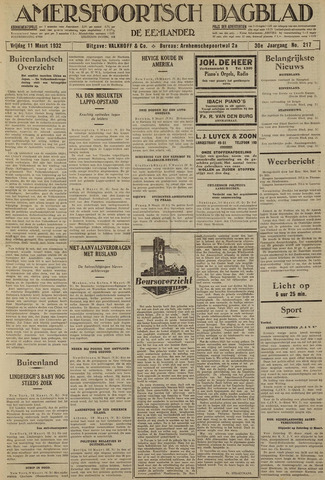 Amersfoortsch Dagblad / De Eemlander 1932-03-11