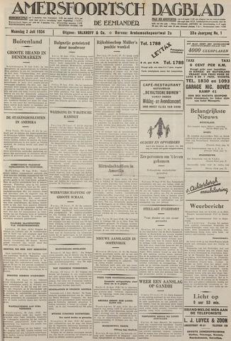 Amersfoortsch Dagblad / De Eemlander 1934-07-02
