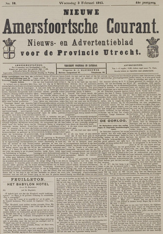Nieuwe Amersfoortsche Courant 1915-02-03