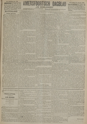 Amersfoortsch Dagblad / De Eemlander 1919-01-22