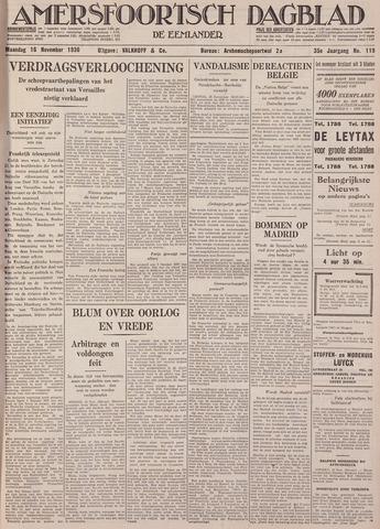 Amersfoortsch Dagblad / De Eemlander 1936-11-16