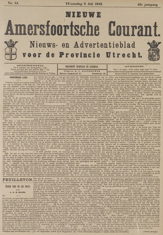 Nieuwe Amersfoortsche Courant 1913-07-09