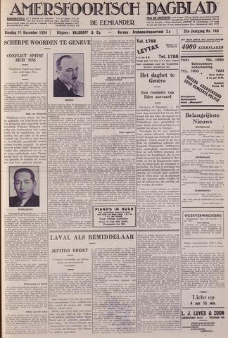 Amersfoortsch Dagblad / De Eemlander 1934-12-11