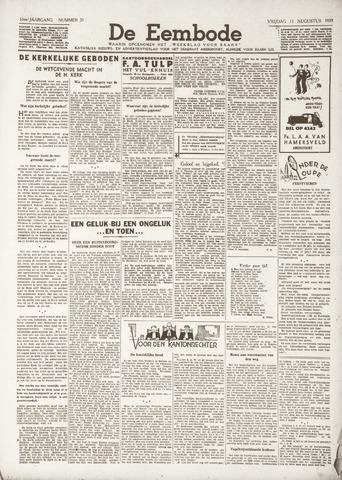 De Eembode 1939-08-11