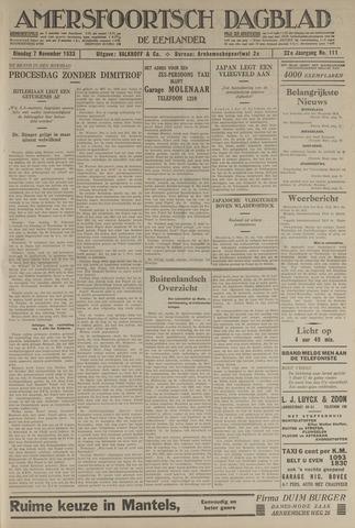 Amersfoortsch Dagblad / De Eemlander 1933-11-07