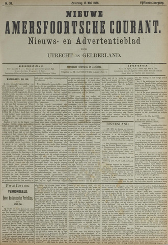 Nieuwe Amersfoortsche Courant 1886-05-15