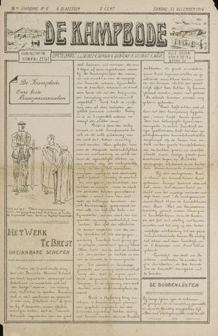 De Kampbode 1916-12-31