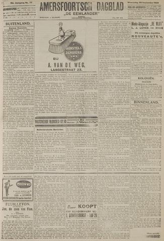 Amersfoortsch Dagblad / De Eemlander 1920-09-29