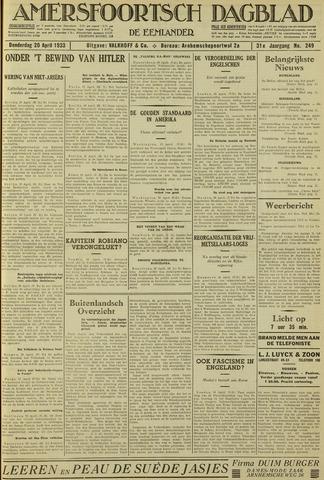 Amersfoortsch Dagblad / De Eemlander 1933-04-20