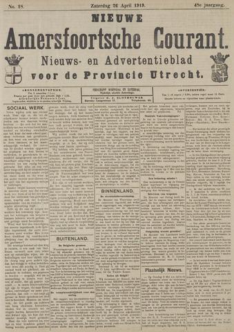 Nieuwe Amersfoortsche Courant 1919-04-26