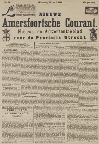 Nieuwe Amersfoortsche Courant 1914-04-22