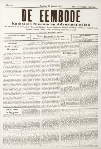 De Eembode 1910-01-22