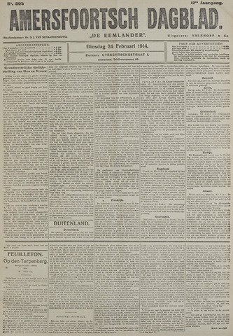 Amersfoortsch Dagblad / De Eemlander 1914-02-24