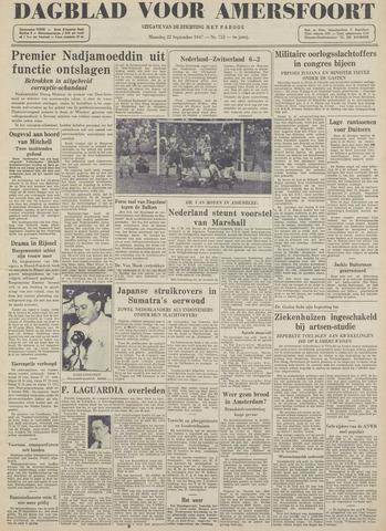 Dagblad voor Amersfoort 1947-09-22