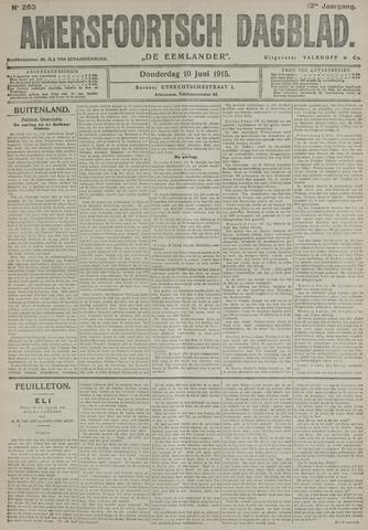 Amersfoortsch Dagblad / De Eemlander 1915-06-10