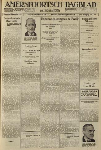 Amersfoortsch Dagblad / De Eemlander 1932-08-10