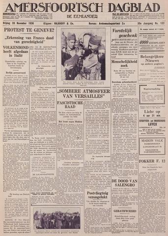 Amersfoortsch Dagblad / De Eemlander 1936-11-20