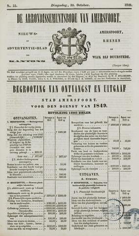 Arrondissementsbode van Amersfoort 1849-10-30