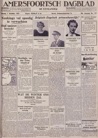Amersfoortsch Dagblad / De Eemlander 1937-12-07