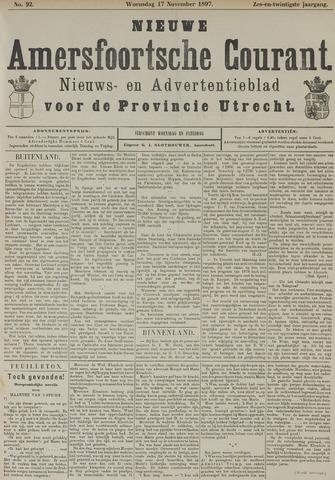 Nieuwe Amersfoortsche Courant 1897-11-17