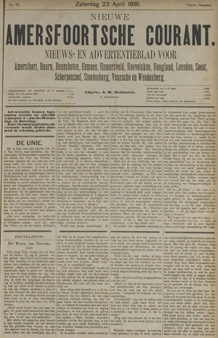 Nieuwe Amersfoortsche Courant 1881-04-23