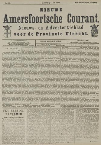 Nieuwe Amersfoortsche Courant 1909-07-03