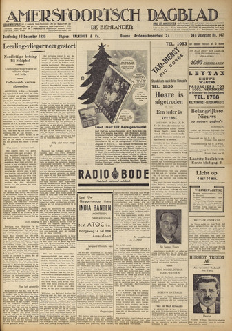Amersfoortsch Dagblad / De Eemlander 1935-12-19