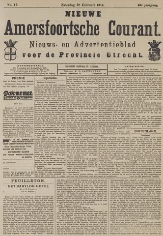Nieuwe Amersfoortsche Courant 1914-02-28