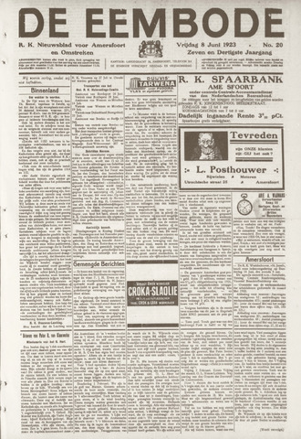 De Eembode 1923-06-08