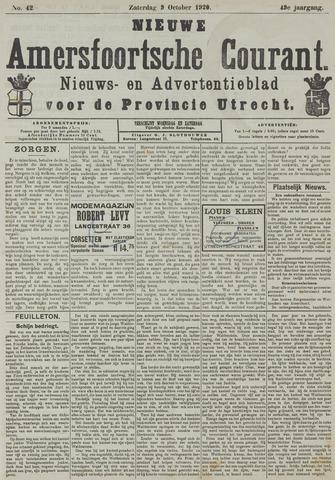 Nieuwe Amersfoortsche Courant 1920-10-09